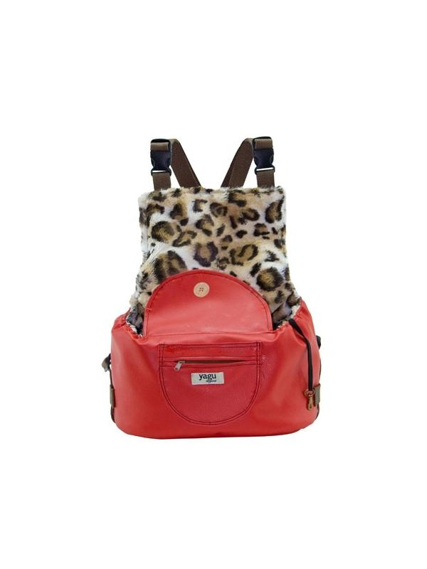 Mochila para perros mini con estampado de leopardo Amazon